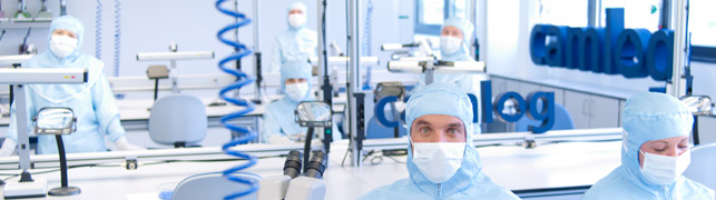 CAMLOG employees in the lab